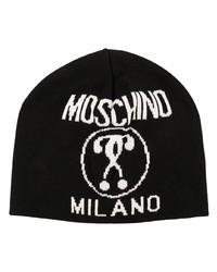 Bonnet imprimé noir et blanc Moschino
