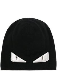 Bonnet imprimé noir Fendi
