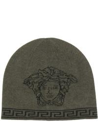 Bonnet imprimé olive Versace