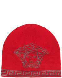 Bonnet imprimé rouge Versace