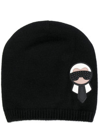 Bonnet noir Fendi