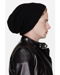 Bonnet noir Kris Van Assche