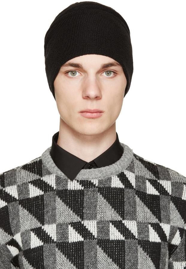 Bonnet noir Saint Laurent