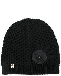 Bonnet orné noir Twin-Set