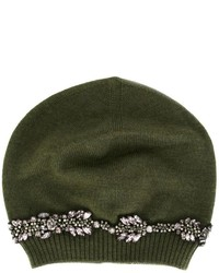 Bonnet orné olive No.21