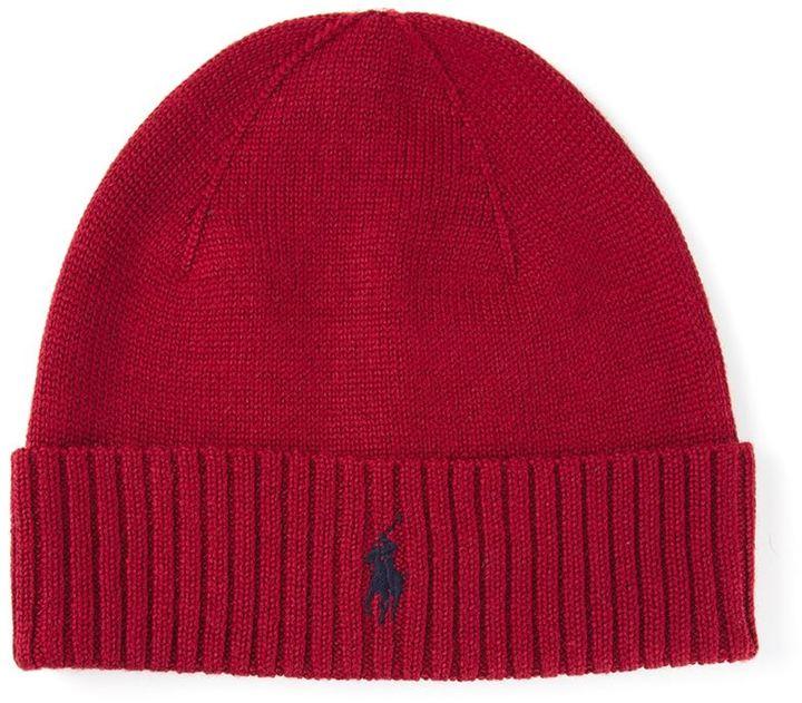 b13bb7d1e16 ... Bonnet rouge Polo Ralph Lauren