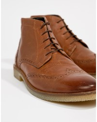 Bottes brogue en cuir marron ASOS DESIGN