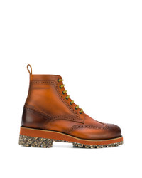 Bottes brogue en cuir marron DSQUARED2