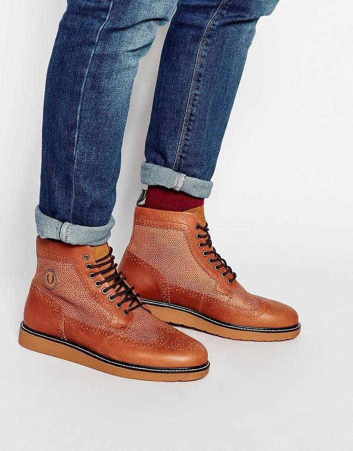 boots fred perry free shipping 19ee7 0bb80