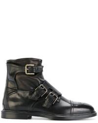 Bottes brogue en cuir noires Dolce & Gabbana