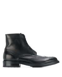 Bottes brogue en cuir noires Saint Laurent