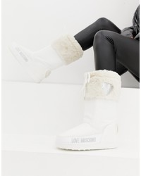 Bottes d'hiver blanches Love Moschino