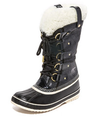 Bottes d'hiver en cuir noires Sorel
