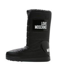 Bottes d'hiver imprimées noires Moschino