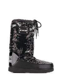 Bottes d'hiver noires Love Moschino