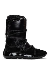 Bottes d'hiver noires Moncler