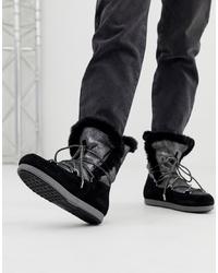 Bottes d'hiver noires Moon Boot
