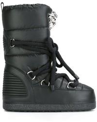 Bottes d'hiver noires Versace