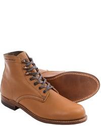 Bottes de loisirs en cuir brunes claires