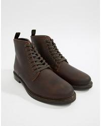 Bottes de loisirs en cuir brunes foncées WALK LONDON