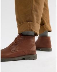 Bottes de loisirs en cuir marron CAT Footwear