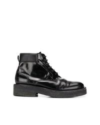 Bottes de loisirs en cuir noires AMI Alexandre Mattiussi