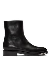 Bottes de loisirs en cuir noires Balenciaga