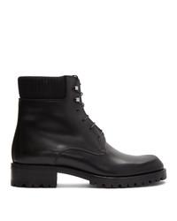 Bottes de loisirs en cuir noires Christian Louboutin