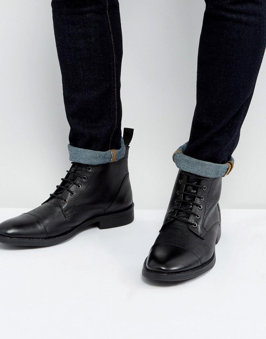 Bottes de loisirs en cuir noires Dead Vintage