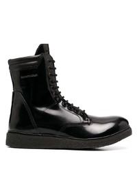 Bottes de loisirs en cuir noires Emporio Armani