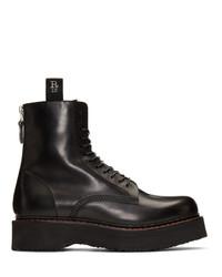Bottes de loisirs en cuir noires R13