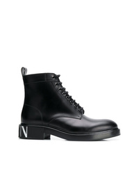 Bottes de loisirs en cuir noires Valentino