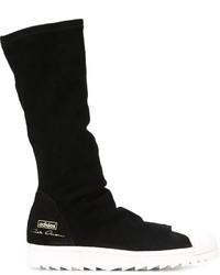 Bottes de loisirs en daim noires adidas