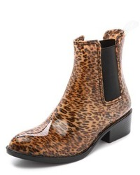 Bottes de pluie imprimées léopard marron Jeffrey Campbell