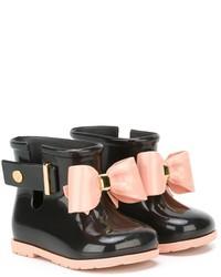 Bottes de pluie noires Mini Melissa