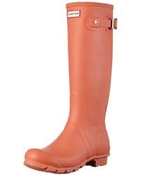 Bottes de pluie orange Hunter