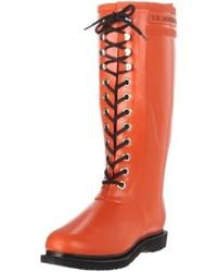 Bottes de pluie orange Ilse Jacobsen