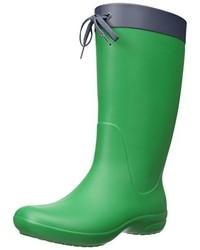 Bottes de pluie vertes Crocs