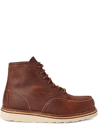 Bottes de travail en cuir marron Red Wing Shoes