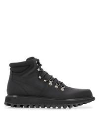 Bottes de travail en cuir noires Dolce & Gabbana
