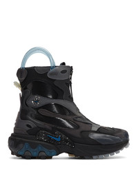 Bottes de travail en cuir noires Nike