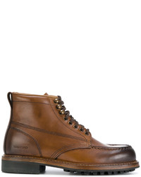 Bottes en cuir marron Tom Ford