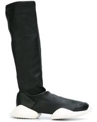 Bottes en cuir noires adidas