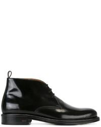 Bottes en cuir noires AMI Alexandre Mattiussi