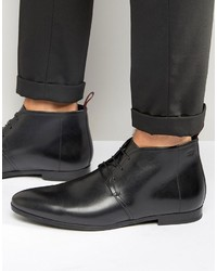 Bottes en cuir noires Hugo Boss