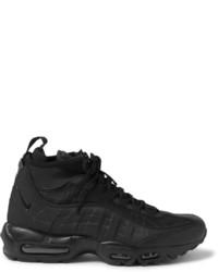 Bottes en cuir noires Nike