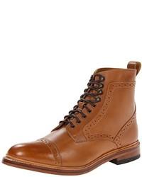 Bottes habillées en cuir marron clair