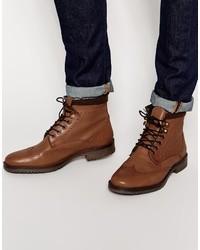 Bottes habillées en cuir marron clair Asos