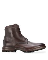 Bottes habillées en cuir marron foncé Henderson Baracco