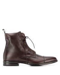 Bottes habillées en cuir marron foncé Scarosso